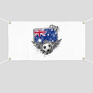 Soccer Fan Australia Banner