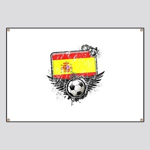 Soccer Fan Spain Banner