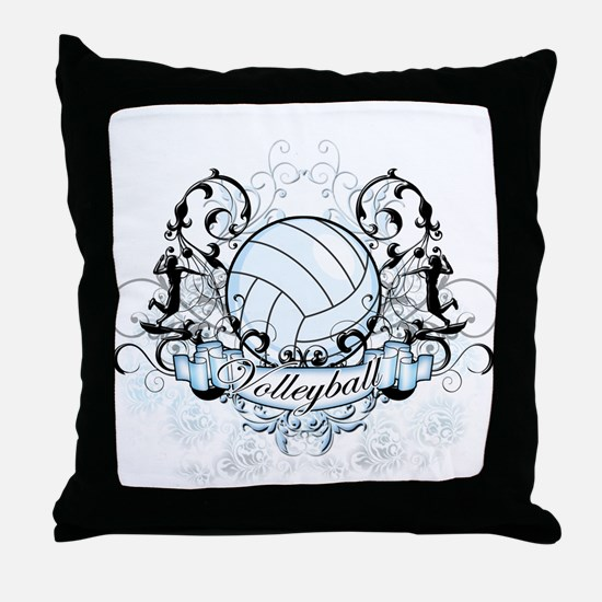 Volleyball Tribal Throw Pillow