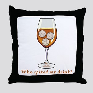 Spiked Drink Throw Pillow
