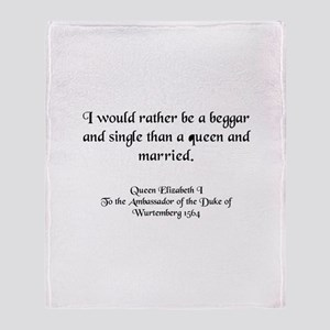 Quote 3 Throw Blanket