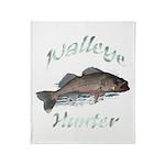 Walleye Hunter Throw Blanket
