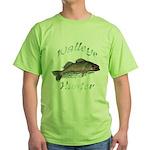 Walleye Hunter Green T-Shirt