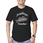 Walleye Hunter Men's Fitted T-Shirt (dark)