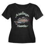 Walleye Hunter Women's Plus Size Scoop Neck Dark T