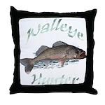 Walleye Hunter Throw Pillow