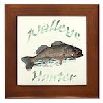 Walleye Hunter Framed Tile