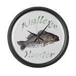 Walleye Hunter Large Wall Clock