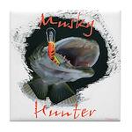 Musky Hunter Tile Coaster