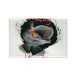 Musky Hunter Rectangle Magnet (100 pack)