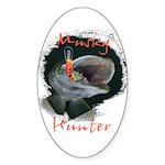 Musky Hunter Sticker (Oval)