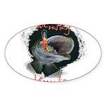 Musky Hunter Sticker (Oval 50 pk)
