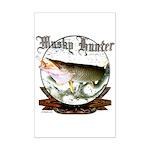 Musky Hunter Mini Poster Print