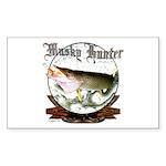 Musky Hunter Sticker (Rectangle)