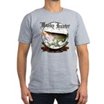 Musky Hunter Men's Fitted T-Shirt (dark)