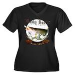 Musky Hunter Women's Plus Size V-Neck Dark T-Shirt