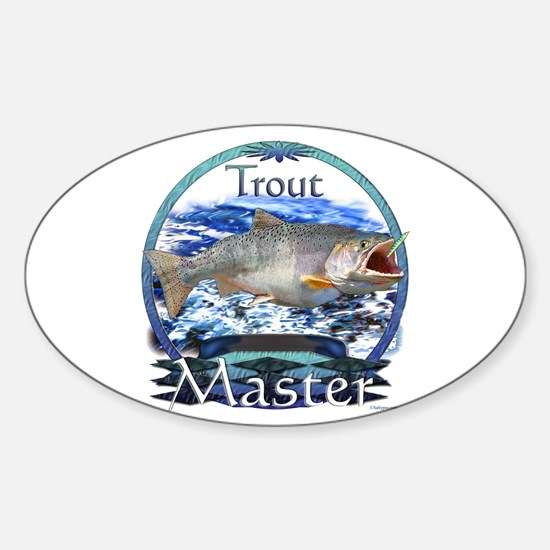 Trout master Sticker (Oval)