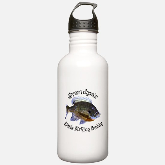 Grandpa's fishing buddy Water Bottle