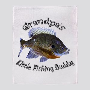 Grandpa's fishing buddy Throw Blanket