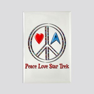 Peace Love Star Trek Rectangle Magnet