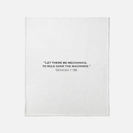 Machines / Genesis Throw Blanket