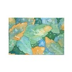 Early Frost Watercolor Rectangle Magnet