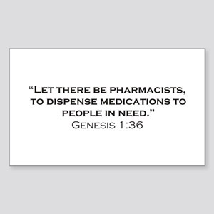 Pharmacists / Genesis Sticker (Rectangle)