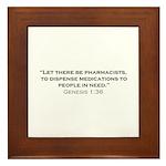 Pharmacists / Genesis Framed Tile