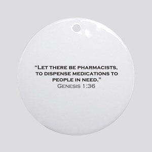 Pharmacists / Genesis Ornament (Round)
