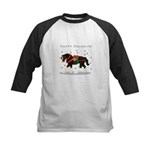 Christmas Clydesdale Kids Baseball Jersey