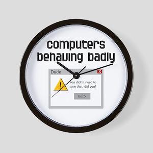 Computers Behaving Badly Wall Clock