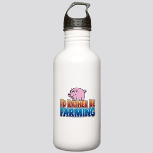 PIG rather be farming Stainless Water Bottle 1.0L