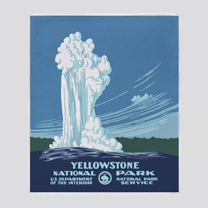 Yellowstone Travel Souvenir Throw Blanket