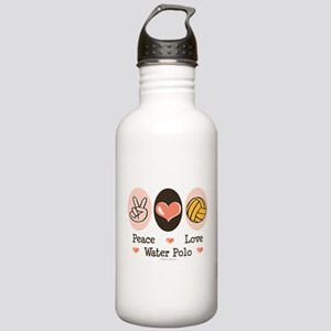 Peace Love Water Polo Stainless Water Bottle 1.0L