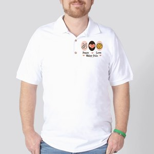 Peace Love Water Polo Golf Shirt