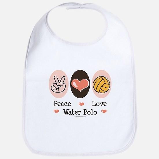 Peace Love Water Polo Bib