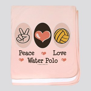 Peace Love Water Polo baby blanket