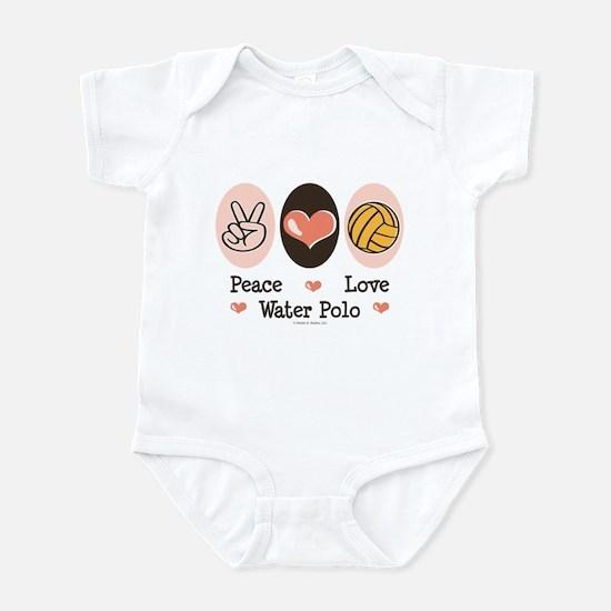 Peace Love Water Polo Infant Bodysuit