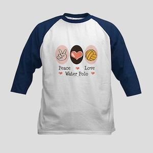 Peace Love Water Polo Kids Baseball Jersey