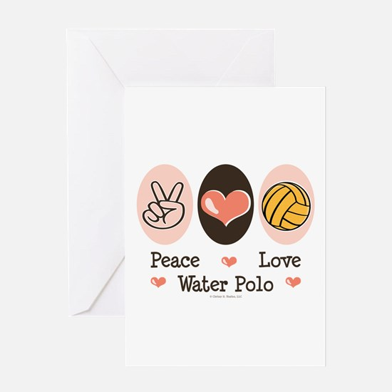 Peace Love Water Polo Greeting Card