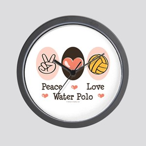 Peace Love Water Polo Wall Clock