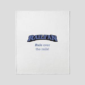 Railfan / Rails Throw Blanket