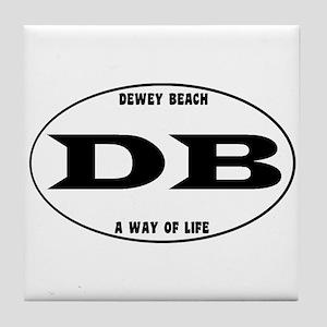 Dewey Beach Euro Tile Coaster