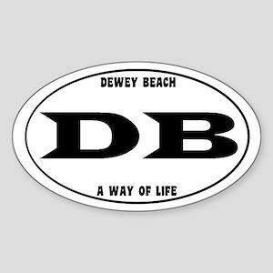 Dewey Beach Euro Sticker (Oval)