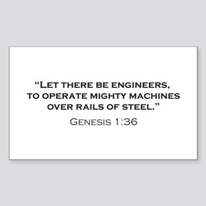 Engineers / Genesis Sticker (Rectangle)