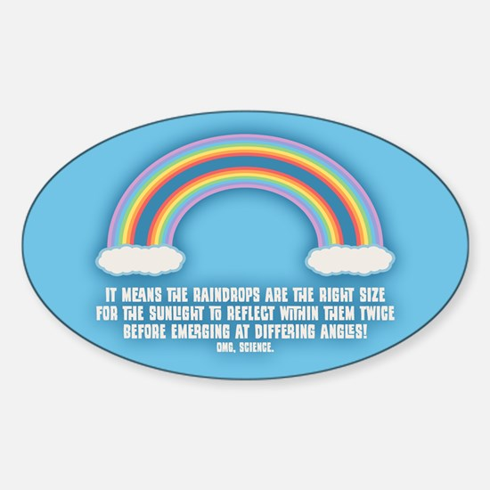 Double Rainbow Meaning Sticker (Oval)