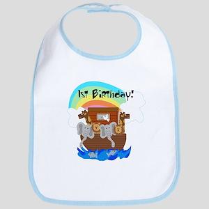 Noah's Ark First Birthday Bib