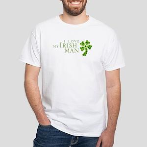 I Love My Irish Man White T-Shirt