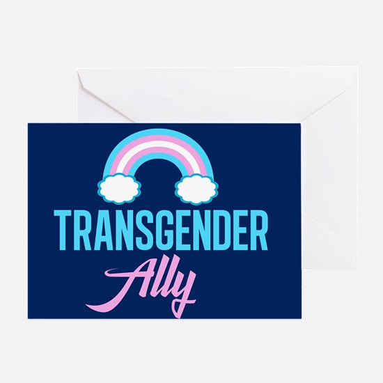 Transgender Ally Rainbow Greeting Card