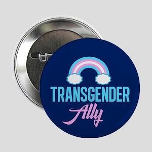 "Transgender Ally Rainbow 2.25"" Button"